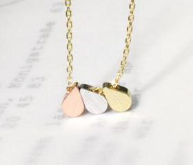 Three rain drop necklace, dainty jewelry