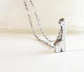  Tiny giraffe necklace, giraffe charm