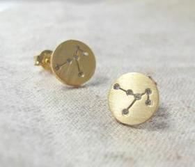 Constellation earring in gold