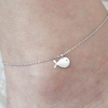 Tiny Whale Anklet
