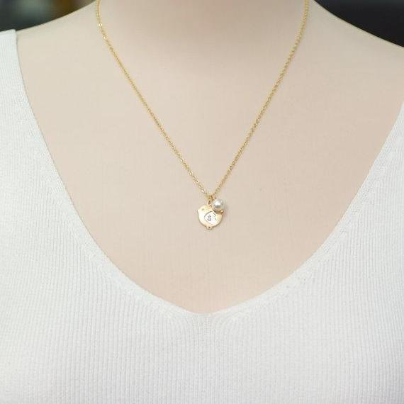 Baby Chick necklace, Personalized initial, Bird Necklace,initial bird,Swarovski Pearl And Bird Necklace, Love Necklace, For Mom, baby shower
