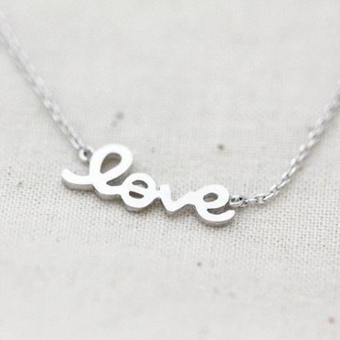 Love necklace, everyday jewelry, delicate minimal jewelry